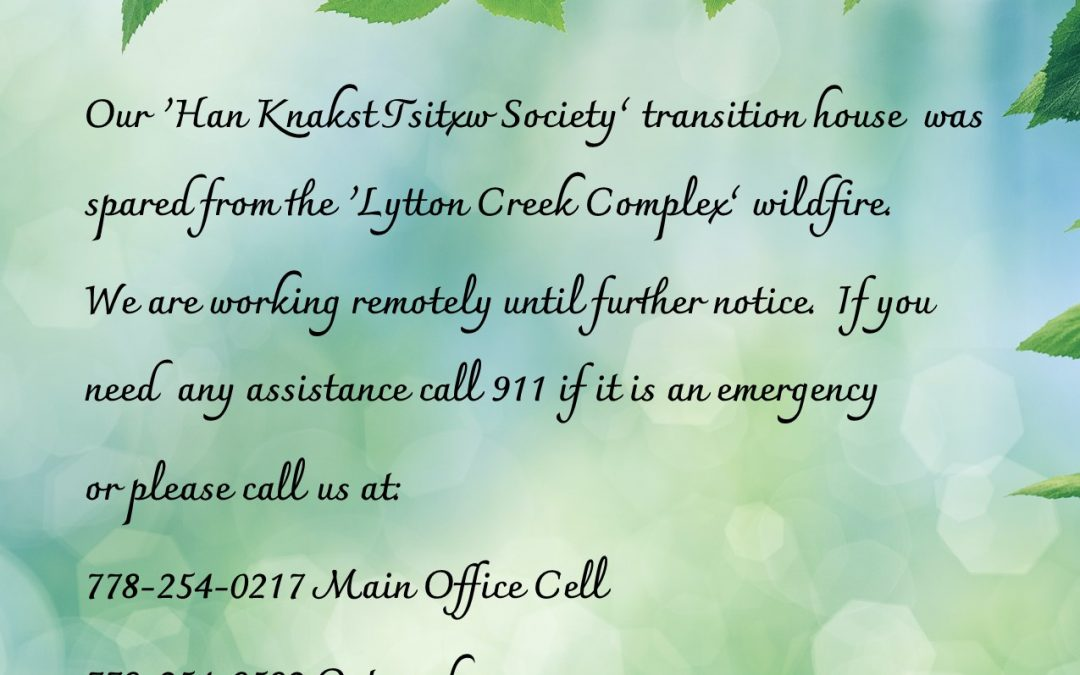 Han Knakst Tsitxw Society Transition House Phone Numbers
